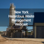 New York Hazardous Waste Management Webcast