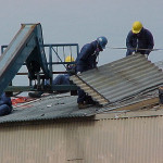 Asbestos Roofer Worker
